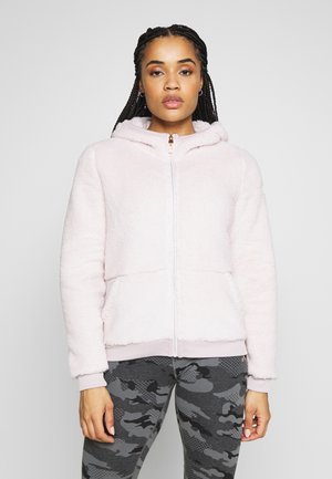 ONPFLUFFY ZIP HOOD JACKET - Fleecejakke - lilac ash