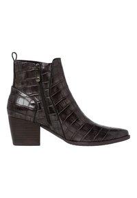 Marco Tozzi - Cowboy/biker ankle boot - dk.grey croco - 4