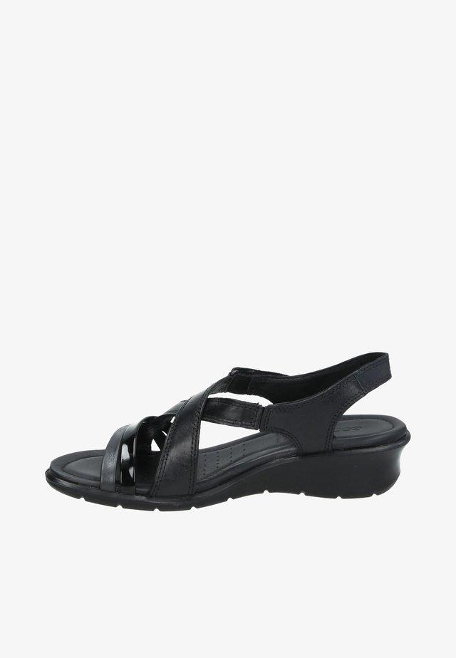 Sandales compensées - zwart
