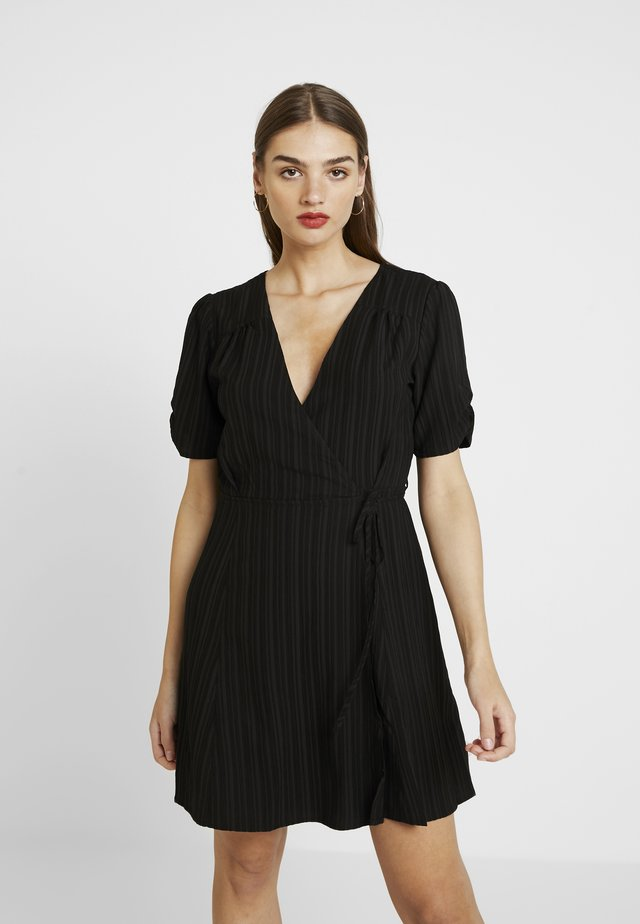 SHADY DAYS TEA DRESS - Vestito estivo - black solid