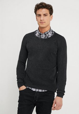 Stickad tröja - anthracite