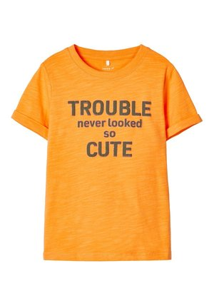 T-Shirt print - blazing orange
