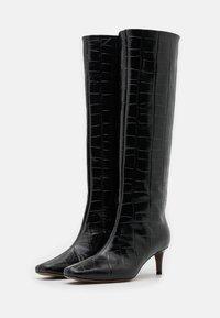 L'Autre Chose - BOOT NON ZIP - Stivali alti - black - 2