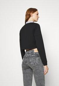 Calvin Klein Jeans - LOGO ELASTIC MILANO - Long sleeved top - black - 2
