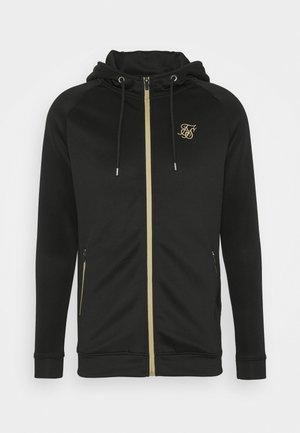 ZIP THROUGH - Chaqueta de punto - black/gold