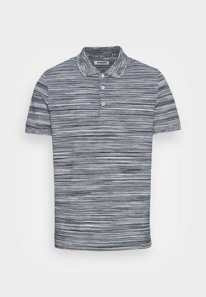 SHORT SLEEVE - Polo shirt - fiammato rasato navy bianco