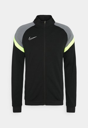 DRY ACADEMY - Training jacket - black/volt/light smoke grey