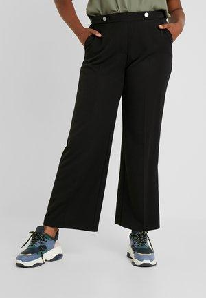 PICASSO WIDE LEG - Bukse - black