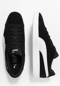 Puma - SMASH V2 UNISEX - Trainers - black/white/silver - 1