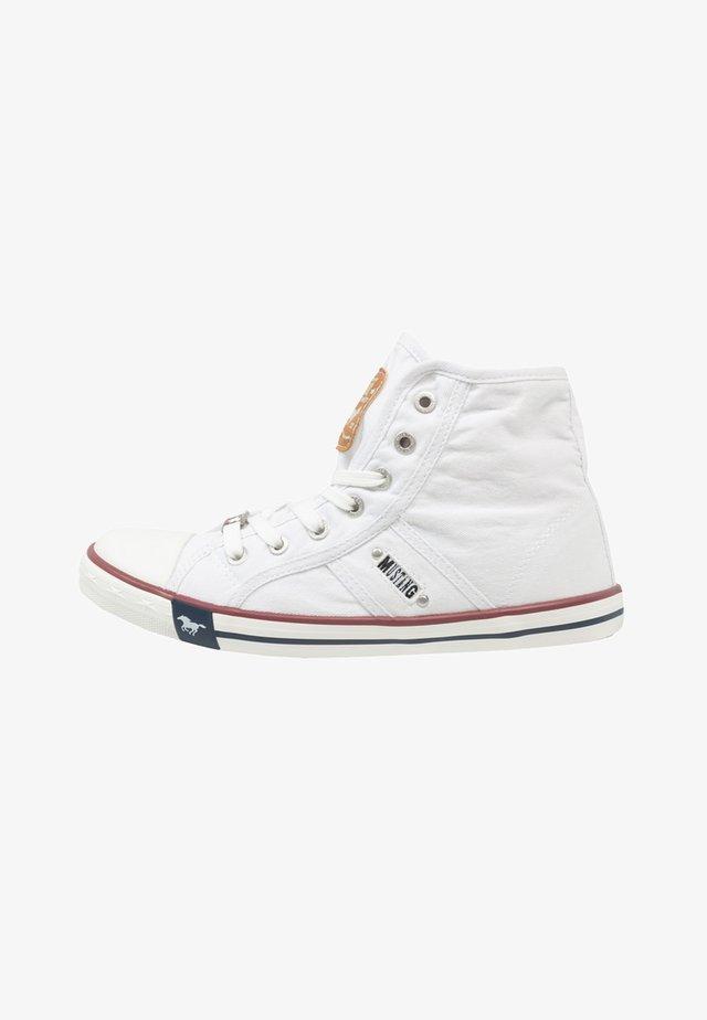 Sneakersy wysokie - weiß