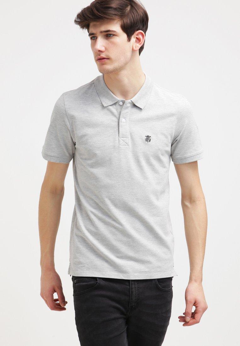 Selected Homme - SLHARO EMBROIDERY - Polo shirt - light grey melange