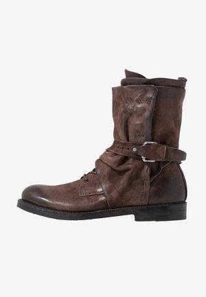 SAMURAI - Lace-up boots - fondente