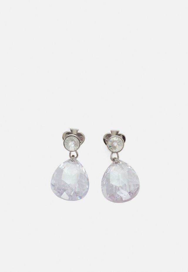 DROP EARRINGS - Boucles d'oreilles - clear/silver-coloured