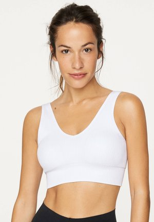 SEAMLESS - Sports bra - white
