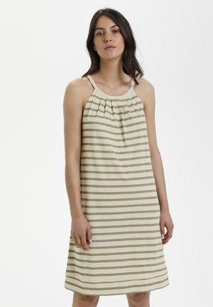LNKYA  - Jersey dress - silver oat stripe