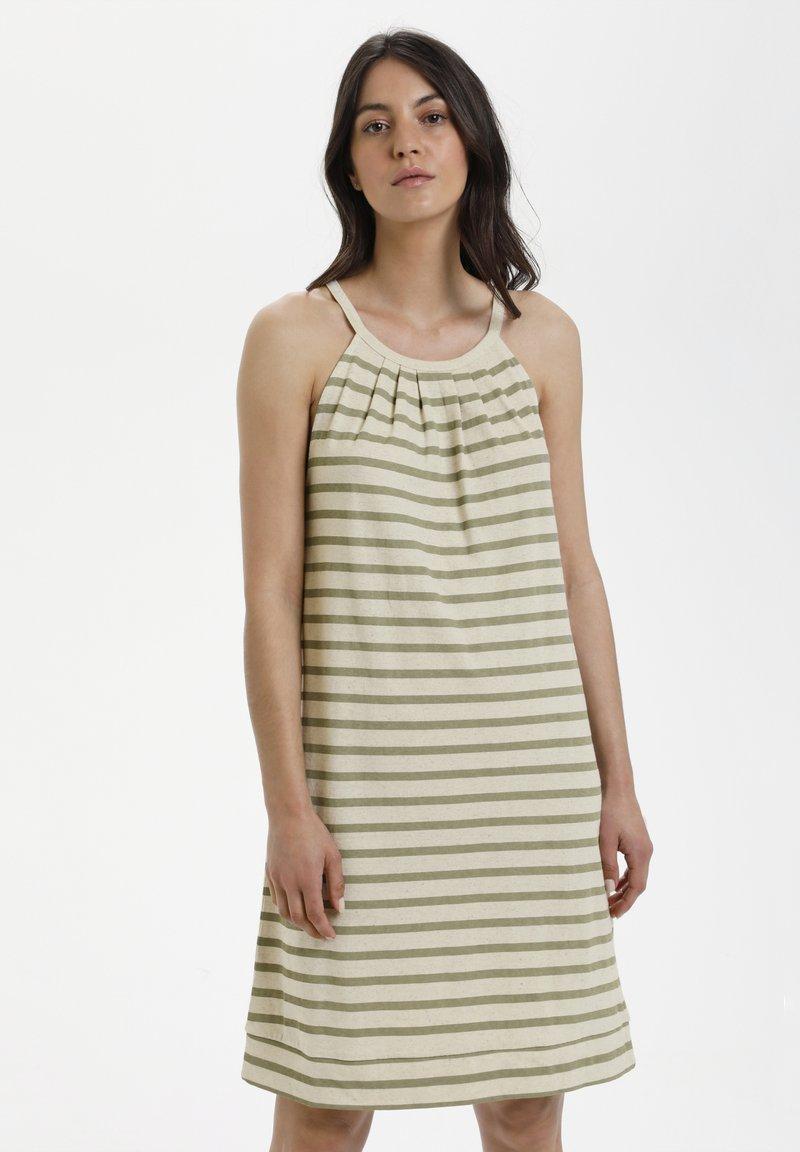 Lounge Nine - LNKYA  - Jersey dress - silver oat stripe