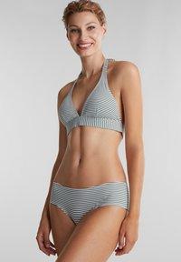 Esprit - MIT STREIFEN - Bikini top - olive - 0