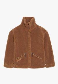 Didriksons - BERN GIRLS JACKET - Outdoor jacket - toffee brown - 0