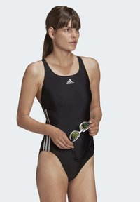 adidas Performance - GLAM-ON SHINY 3-STRIPES SWIMSUIT - Swimsuit - black - 2