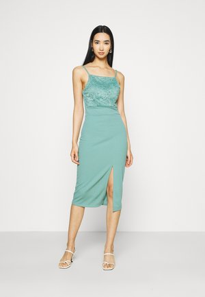 ASHANTI LACE MIDI DRESS - Cocktail dress / Party dress - sage green