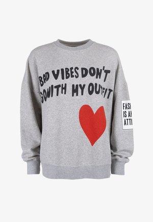 BAD VIBES - Sweatshirt - light grey