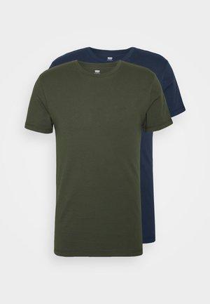 SLIM CREWNECK 2 PACK - Basic T-shirt - deep depths/blues