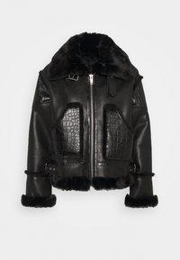 The Kooples - FOURRURE - Imitatieleren jas - black - 0