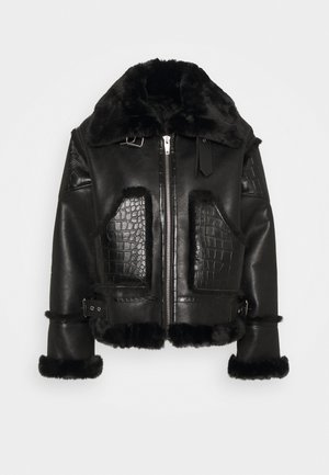 FOURRURE - Faux leather jacket - black