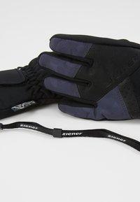 Ziener - LOX AS® JUNIOR - Gloves - black/grey night camo - 3