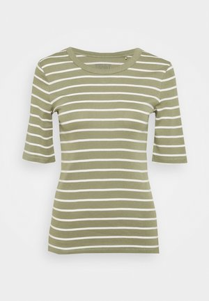 FLOW CORE - Print T-shirt - light khaki