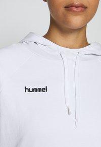 Hummel - GO HOODIE WOMAN - Hoodie - white - 5