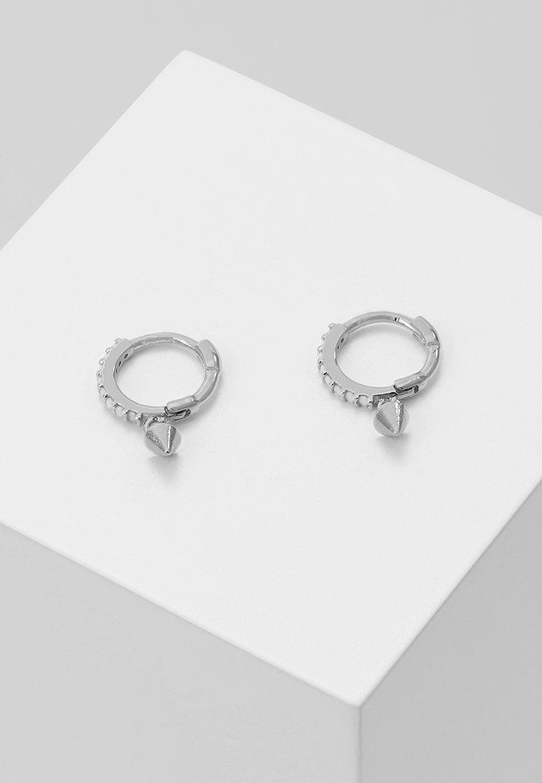 Astrid & Miyu - MYSTIC SPIKE HUGGIES - Earrings - silver-coloured
