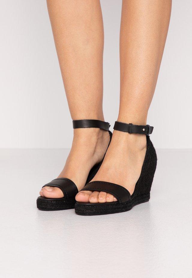 RAGGIO - High heeled sandals - schwarz