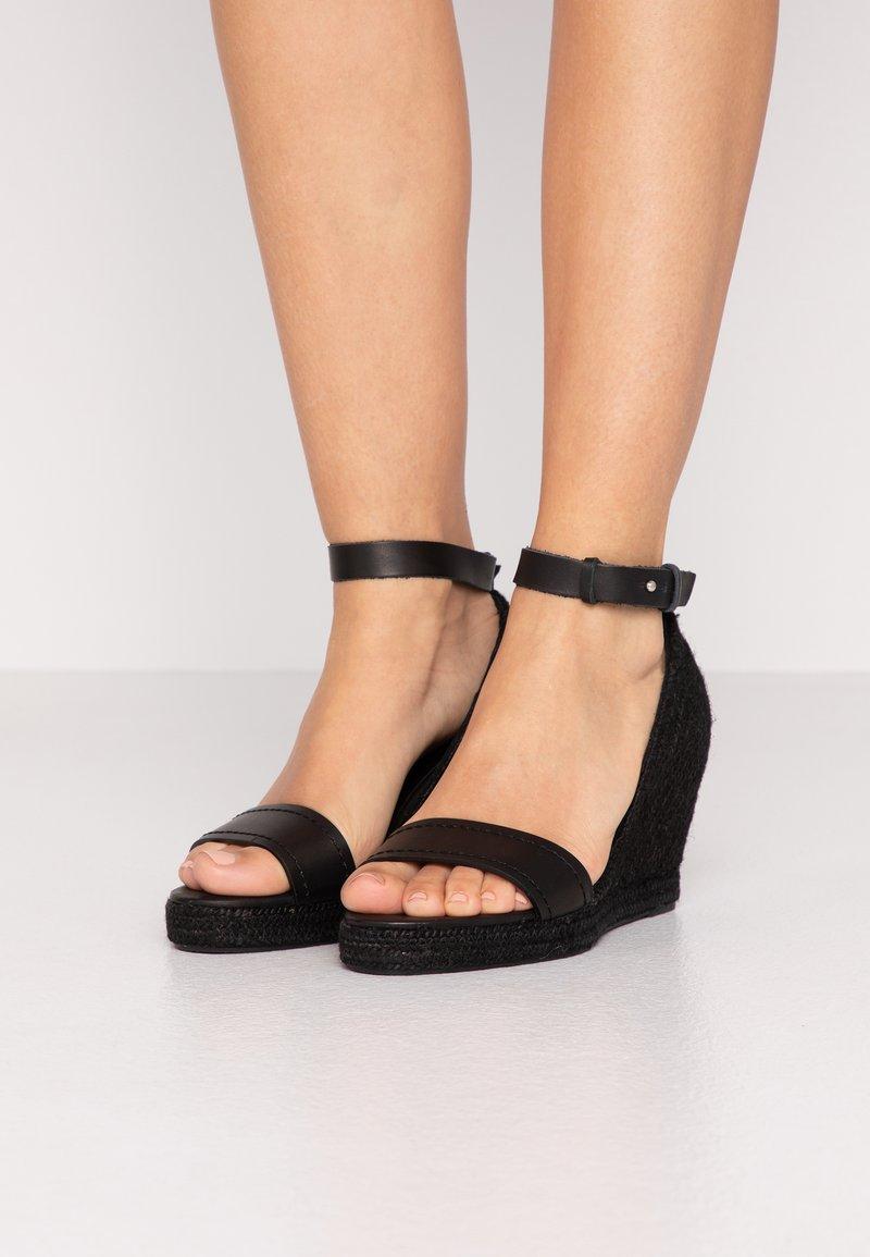 WEEKEND MaxMara - RAGGIO - High heeled sandals - schwarz