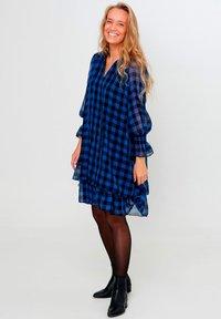 Noella - CASSY - Day dress - black blue checks - 1