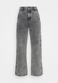 SLIM WIDE LEG BURT - Relaxed fit jeans - grey