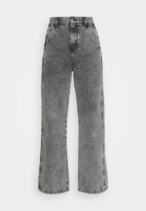 SLIM WIDE LEG BURT - Jeans relaxed fit - grey