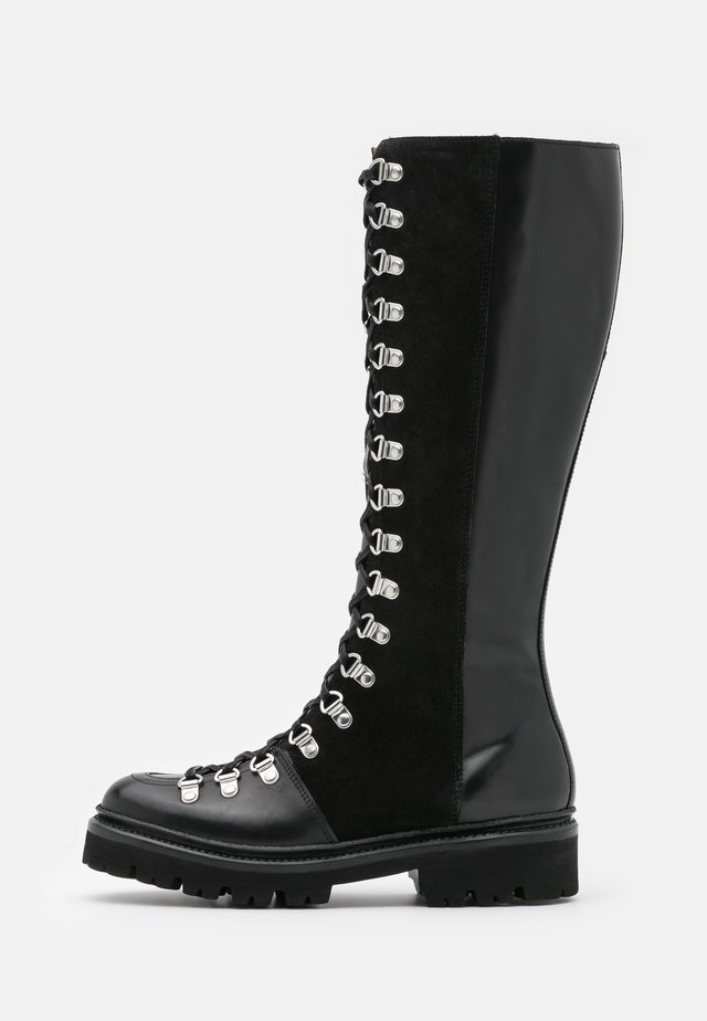 NANETTE HI - Veterlaarzen - black colorado/black