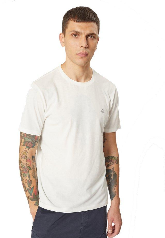 Print T-shirt - 103 - gauze white