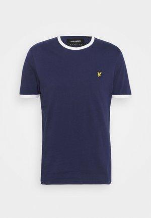 RINGER  - T-shirt basic - navy/white