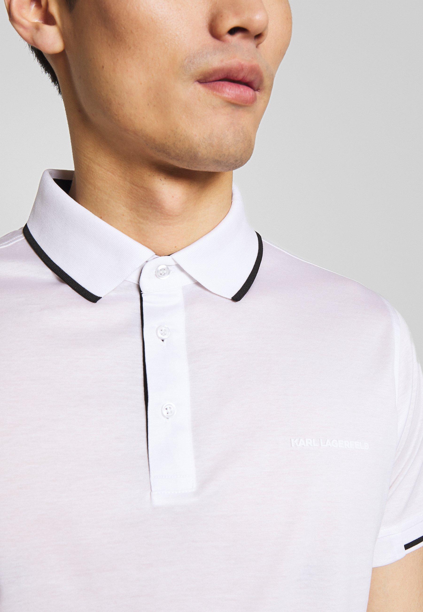 Tania cena Gorąca wyprzedaż KARL LAGERFELD Koszulka polo - white | Odzież męska 2020 piHEB