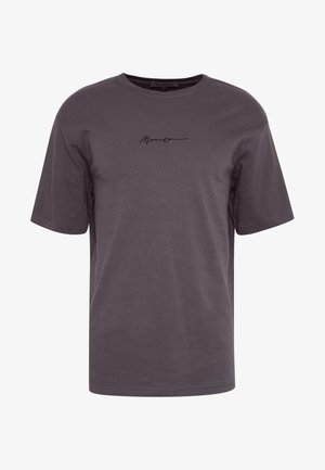 ESSENTIAL REGULAR RELAXED SIG TEE UNISEX - T-Shirt basic - charcoal