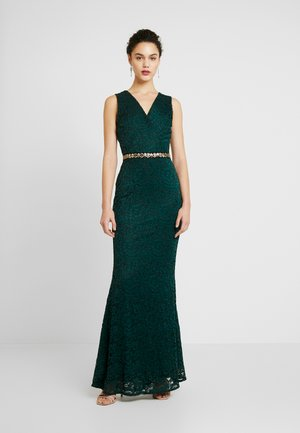 WASTE DETAILED SEQUIN - Ballkleid - forest green