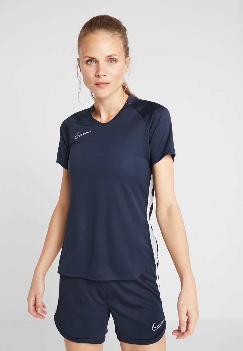Nike Performance - DRY ACADEMY 19 - T-Shirt print - obsidian/white