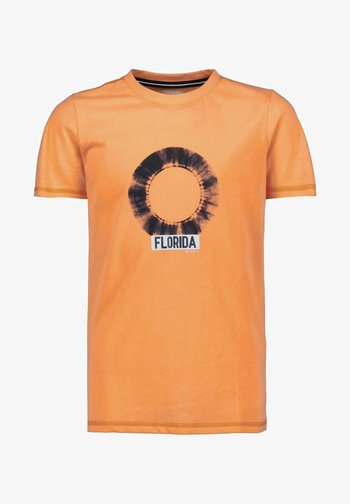 Print T-shirt - neon carrot