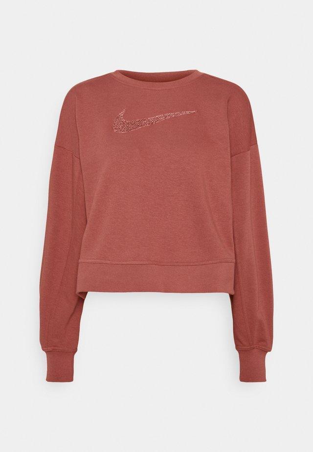 DRY GET FIT CREW - Sweater - canyon rust/rust pink