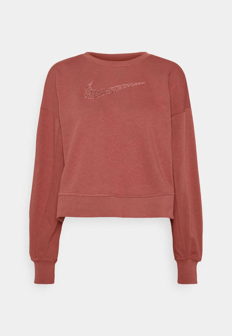 Nike Performance - DRY GET FIT CREW - Sudadera - canyon rust/rust pink