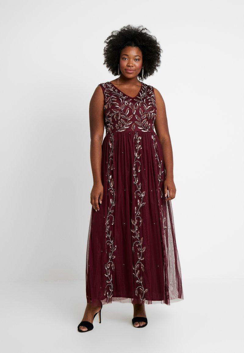 Lace & Beads Curvy - ATLANTIS MAXI - Occasion wear - burgundy