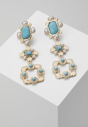 BEATEN STONE  - Earrings - blue