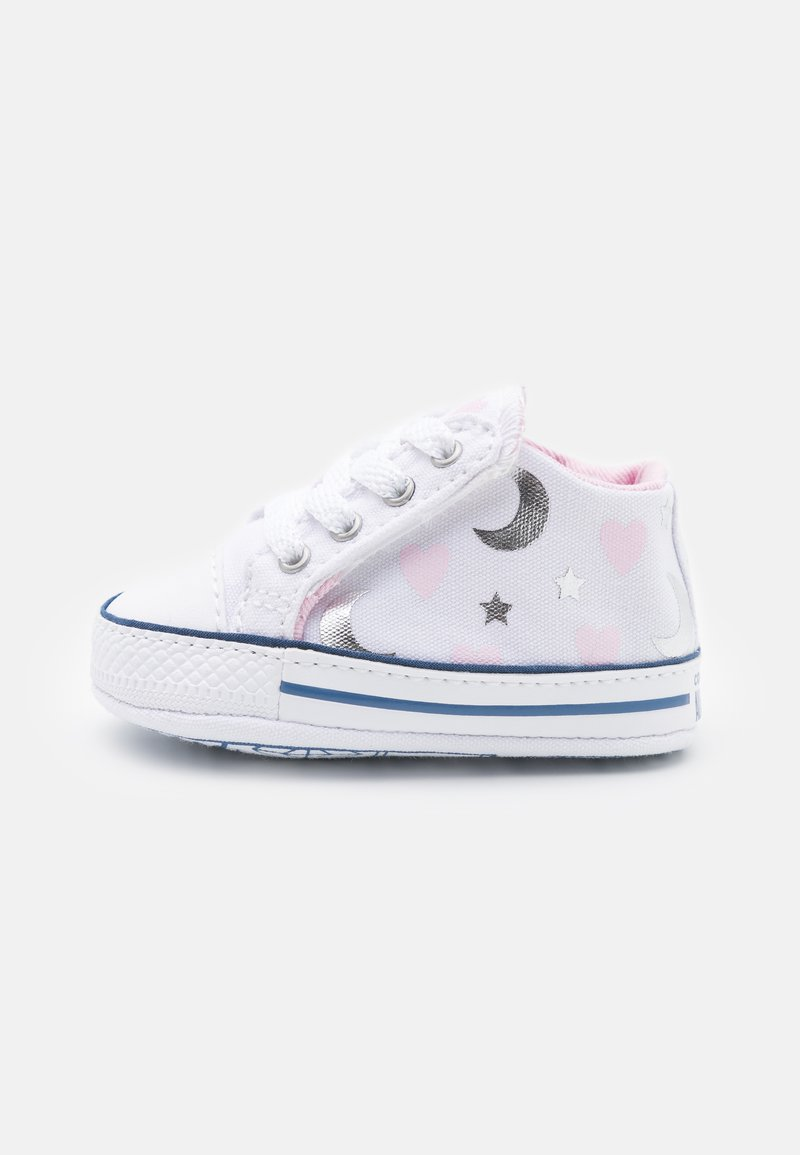 Converse - CHUCK TAYLOR CRIBSTER - First shoes - white/pink/silver